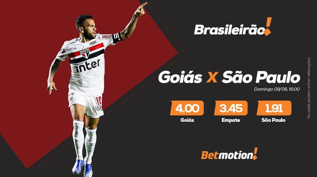 Será que o #DaniAlves vai levar o #SPFC ao título do #Brasileirão? Na sua estreia, o Tricolor Paulista visita o Goiás. Qual seu palpite?  Acesse https://www.betmotion.com/br/sports/apostas-esportivas?btag=a_5264b_10753c_&MoneybookerRID=&ext_ref_id=partnersonly…  e use o Promocode: SERIEA1 e ganhe três Bônus de 30% sem limite! #VamosSaoPaulopic.twitter.com/ooWuYgDHwK