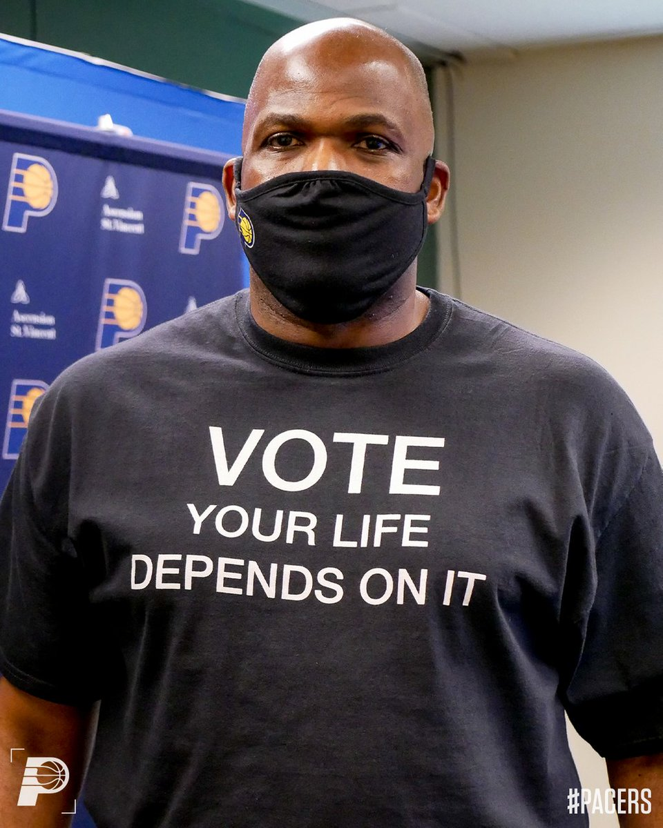Coach McMillan is ready to #RallyTheVote 🗳  Are you registered to vote in your state?  #WholeNewGame https://t.co/cWJzF4lHkU