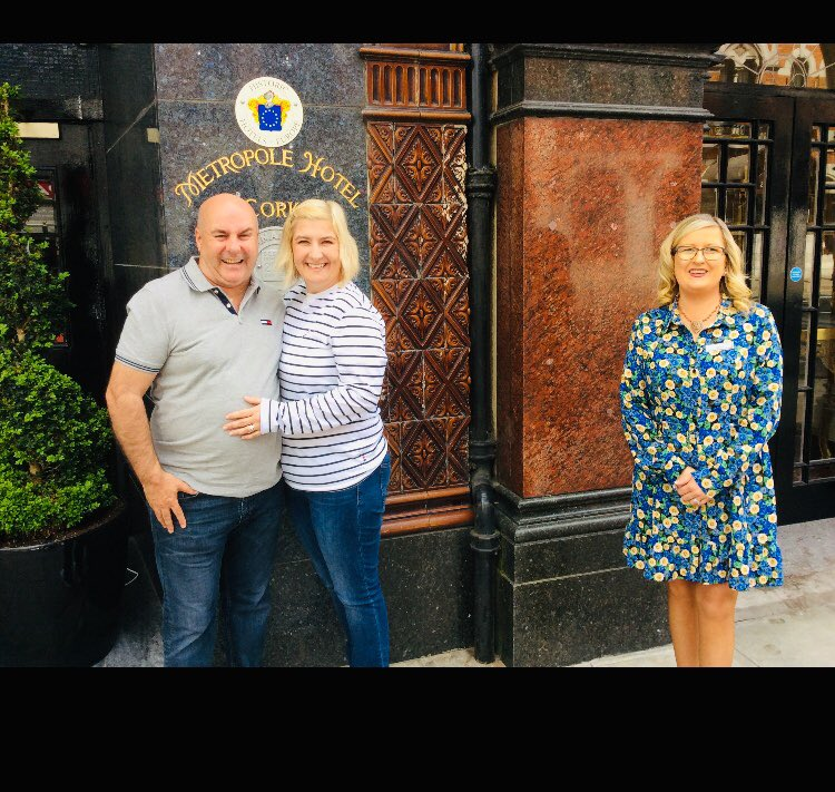 So nice to see off our wonderful wedding couple today after their special day yesterday @MetropoleCork #wherememoriesaremade #weddingday #WeddingVibes #specialday https://t.co/IejF3yHBtc