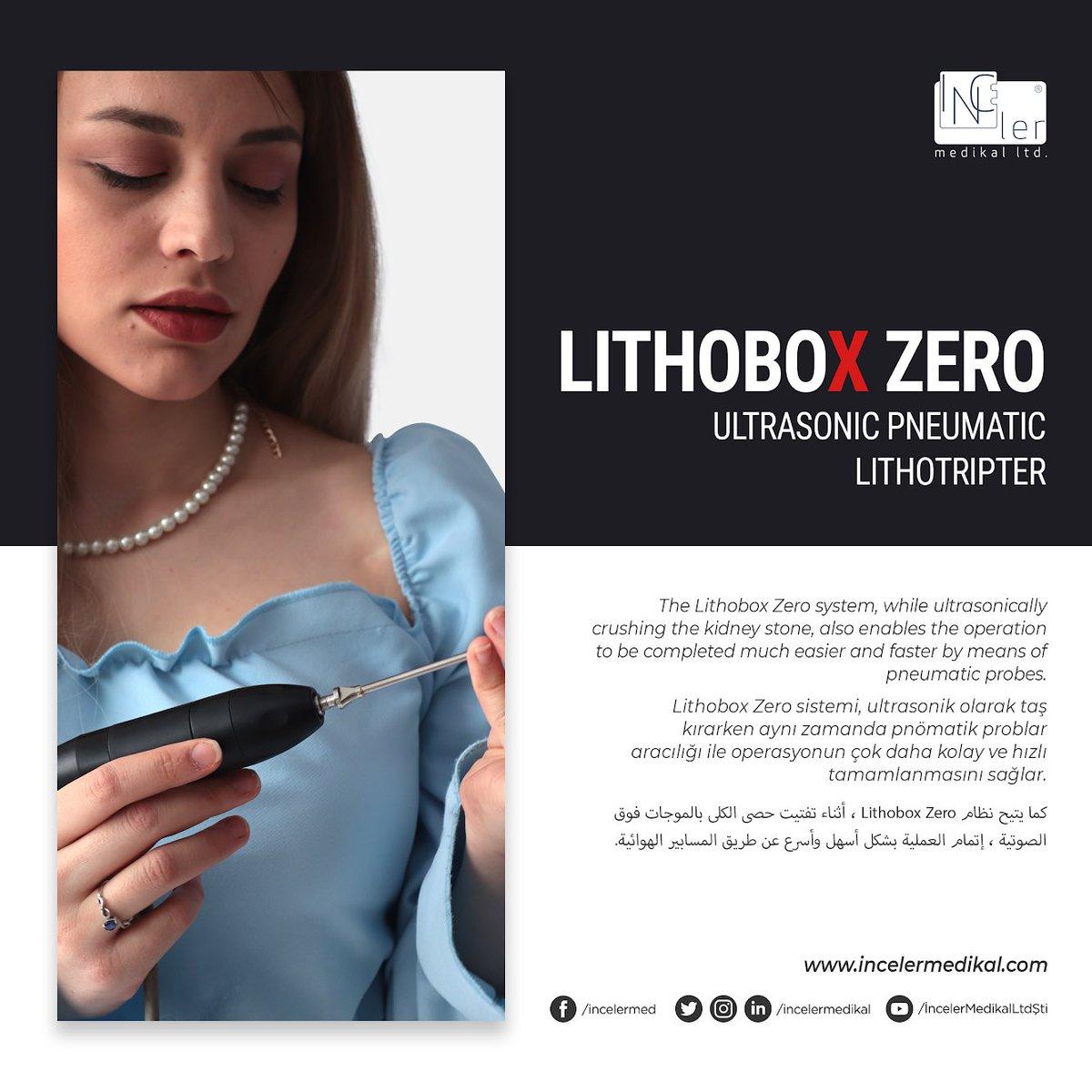 The Lithobox Zero system, while ultrasonically crushing the kidney stone, also enables the operation to be completed much easier and faster by means of pneumatic probes.  #shockwavetherapy #pcnl #Lithotripsy #urology #combineLithotripsy #kidneystones #urologyist #urologistpic.twitter.com/YqDRHiAwkt