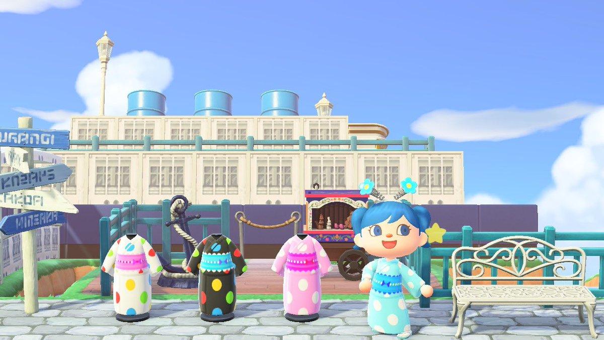 フランソワ&クリスチーヌな浴衣を2パターンずつ4種類作りました!光るぽよんぽよんや、うさ耳を合わせて楽しんでもらえるとうれしいです!残り2つも作者IDや夢番地からどうぞ♩#あつ森  #どうぶつの森 #AnimalCrossing #ACNH #NintendoSwitch #マイデザ #マイデザイン #浴衣 #ゆかた