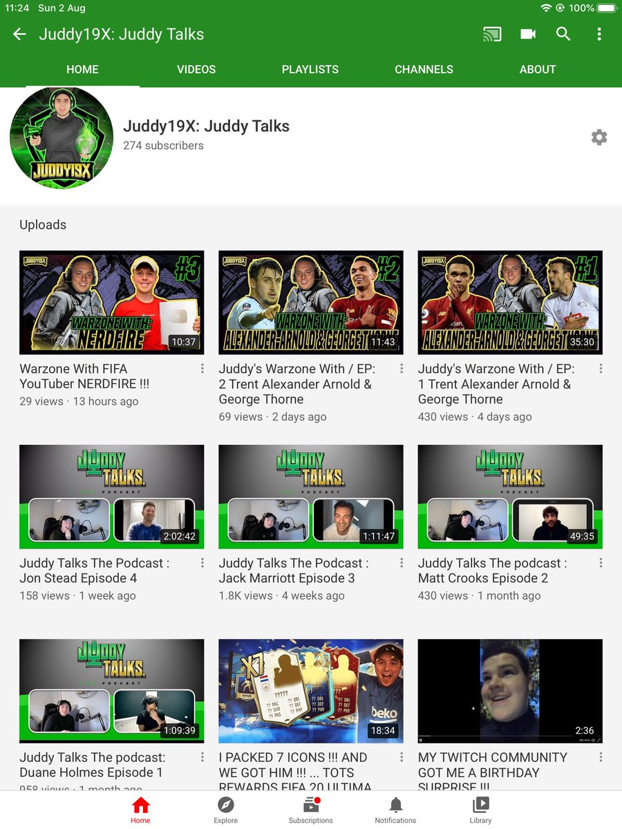 Really enjoyed getting some good gaming content up on the @YouTube channel recently .... Max Lowe @JuddyTalks Podcast will be uploaded tonight Check out all the previous stuff if you haven't already ... RT appreciated 🙌🏼 #dcfcfans