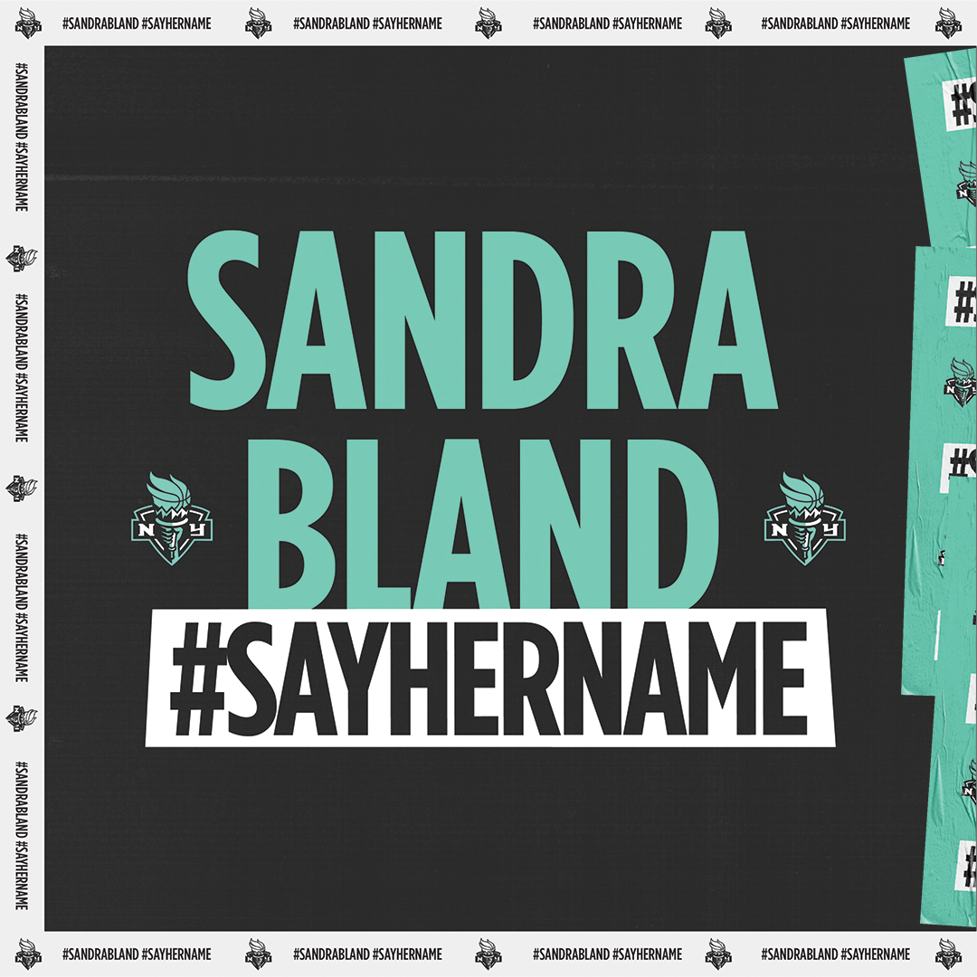 """#SayHerName. #SandraBland. An activist whose platform #SandySpeaks uplifted """"Kings and Queens"""", and informed about racial injustices was a fatal victim of a criminal justice system that disproportionately harms people of color. We will always #sayhername. https://t.co/dwCSPZHYRl https://t.co/Xlynrvl905"""
