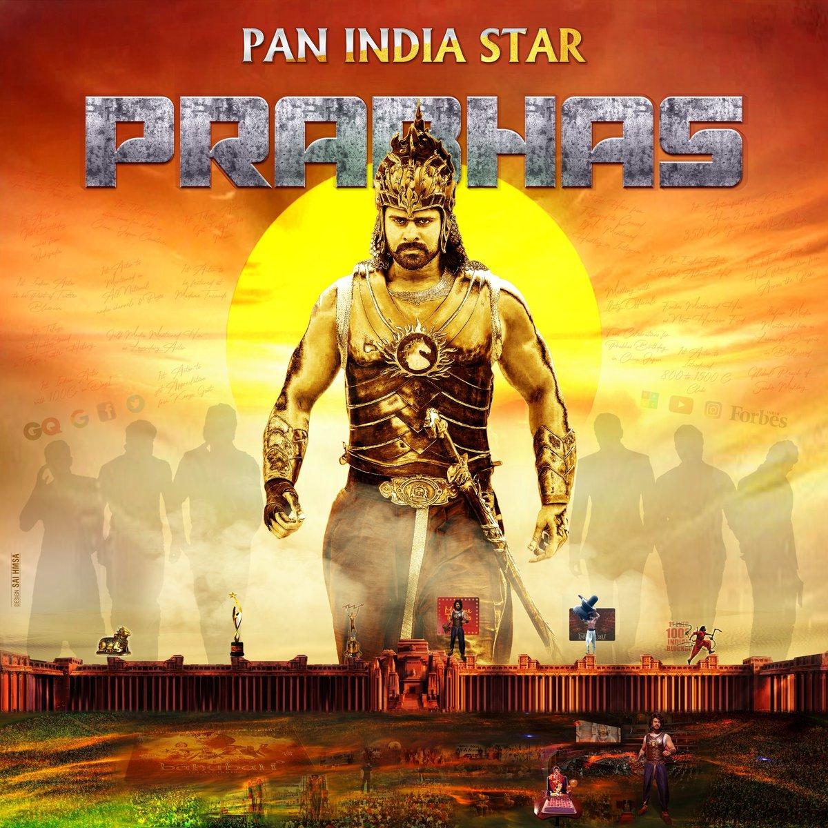 Come on rebals it's show time jai rebal star #RiseOfPanIndiaStarPrabhas pic.twitter.com/WDQNK1rRrg
