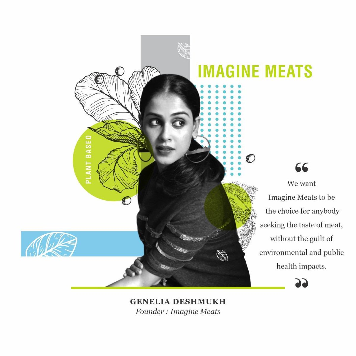We want @imaginemeats to be a choice for anybody seeking the taste of meats without the guilt of environment and public health impacts. - @geneliad Founder / Imagine Meats