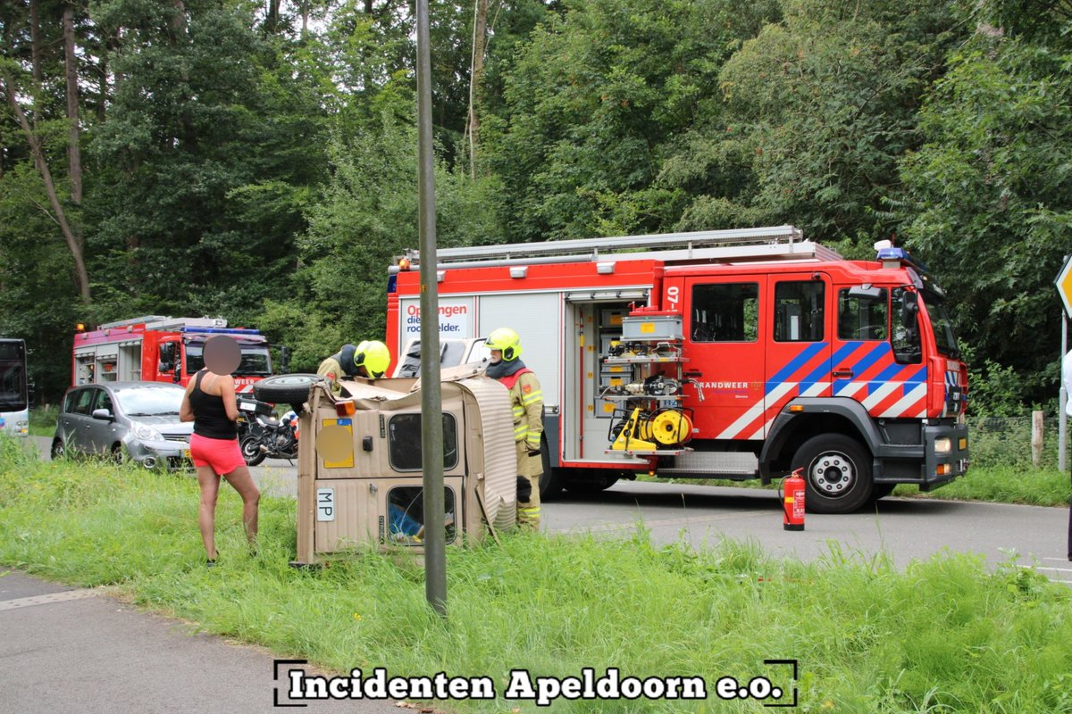 Melding brandweer Badhuislaan Laag-Soeren inzake aanrijding