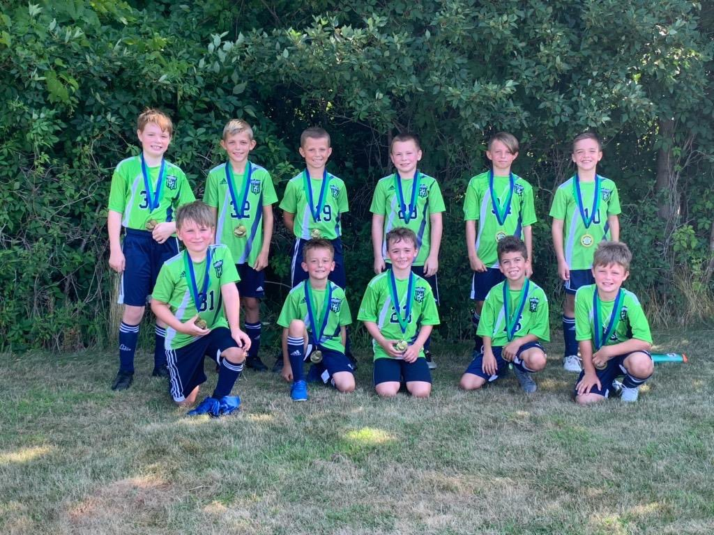 Coach Anne Smith's U09 Boys Team secured a perfect 4-0  (4 wins, 0 losses) record at the recent Greece United tournament last weekend. It was a total team effort and the boys showcased solid passing and finishing to complement lockdown defense.     Congratulations to the boys! pic.twitter.com/f3oIek9MGm