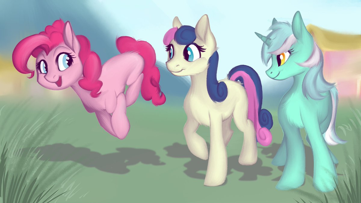 """Calpain på Twitter: """"I wonder if Pinkie helped plan their wedding? You've  got to have a grand party for Lyra and Bon Bon after all! Artwork is by  108fiona8fay, find them below!"""
