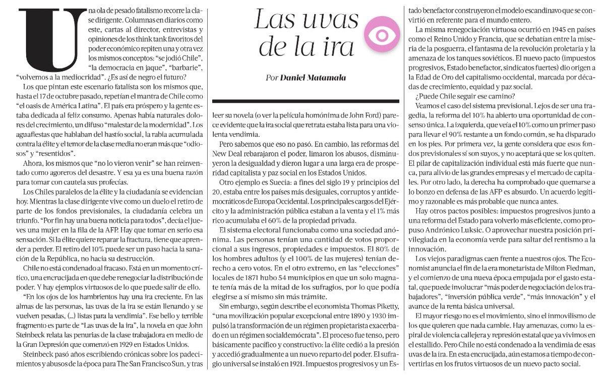 Las uvas de la ira. 🍇  Columna de hoy en @latercera 👇 https://t.co/zCiMp4IFPn