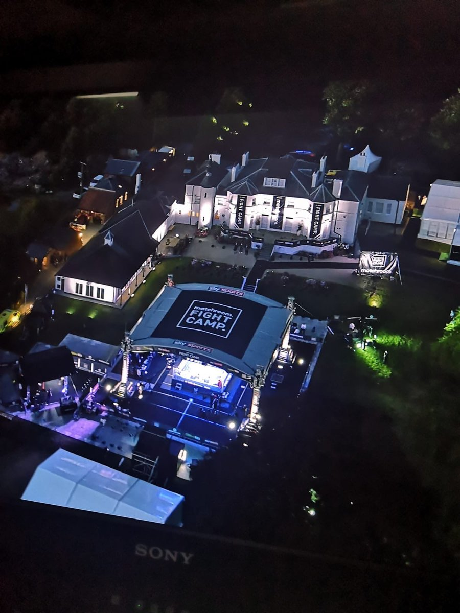 Working for Matchroom #fightcamp in S100 and the production trailer for social distancing, supplying Ku satellite and IP feeds #boxing #BoxingIsBack pic.twitter.com/e5LwgobqVB