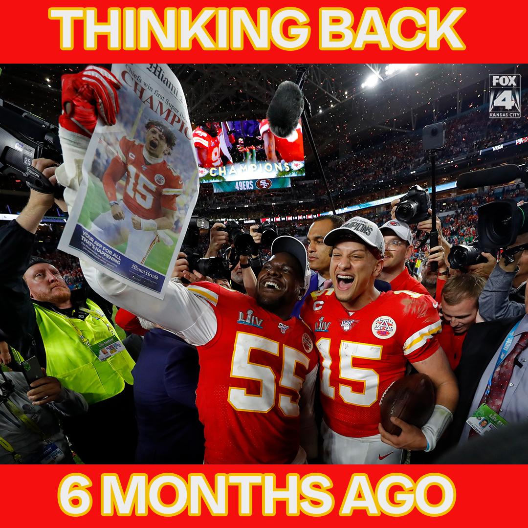 Hard to believe it was just six months ago on Feb. 2, 2020, that the @Chiefs became Super Bowl Champions! Does it feel like yesterday or a lifetime ago for you #ChiefsKingdom ?