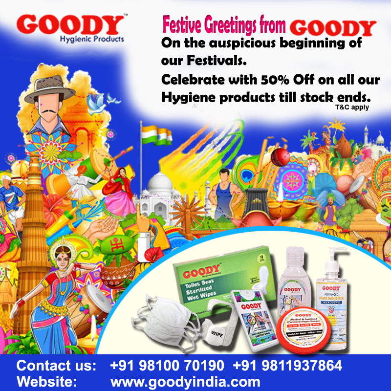 Goody India Special Festive Offer 50% Off with Free Gift with every order.  (Limited Period offer T&C Apply.) To order :https://t.co/h8soAdYDIM https://t.co/pMqseh8iki