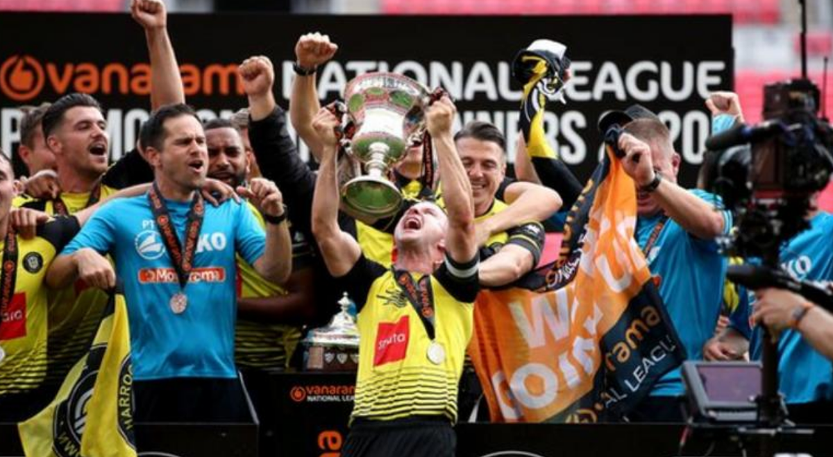 Next stop: the #EFL - for the first time in their history! Harrogate Town have been promoted. Report: bbc.in/3fnlEc0