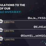 Image for the Tweet beginning: 🎉Congratulation to the winners🎉 We will