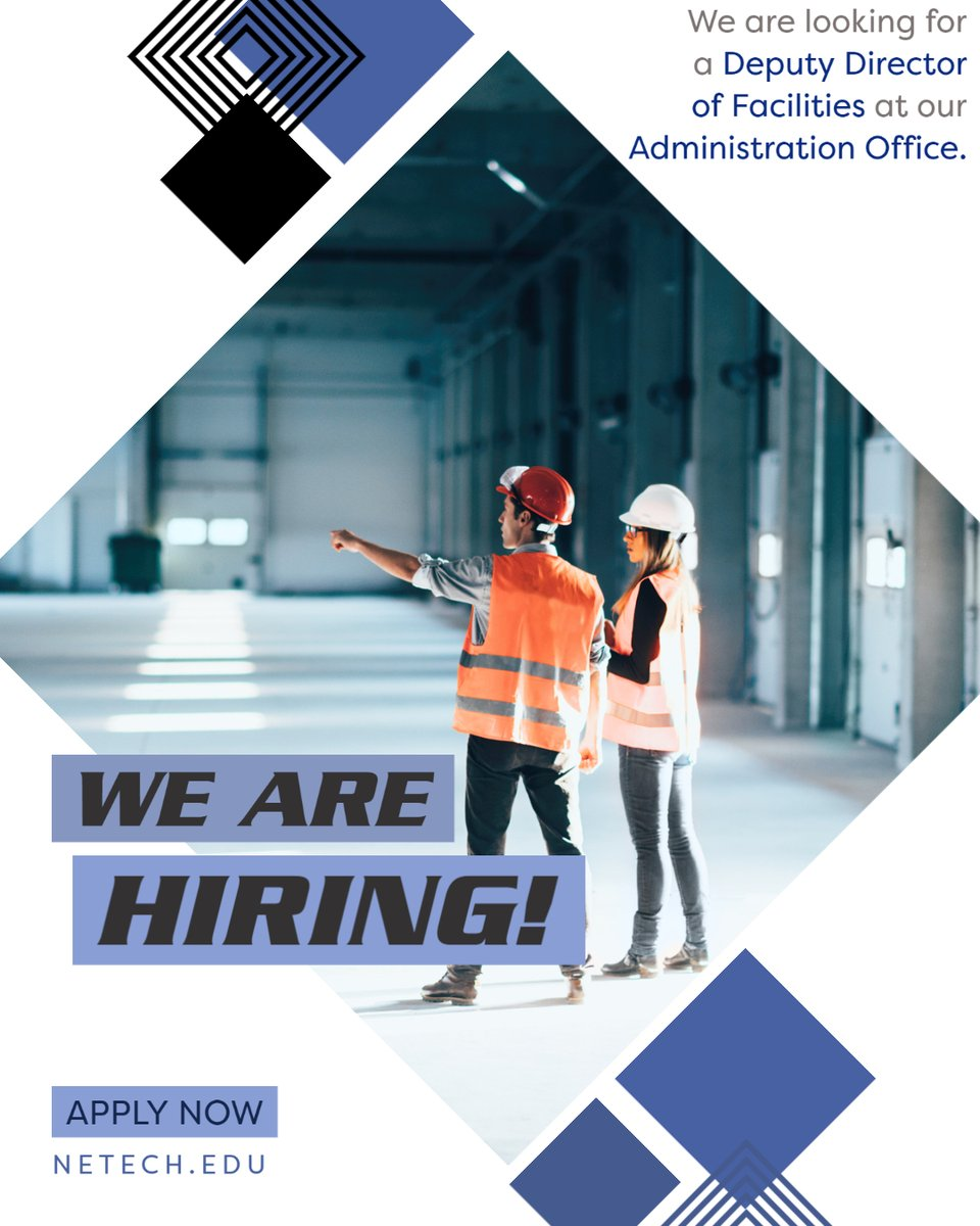 Do you have a construction management background?  We are looking for a Deputy Director of Facilities at our Administration Office in Pryor. We are taking applications until Friday, August 14, at 3 p.m. To apply go to our website: http://ow.ly/beip50Azg9ppic.twitter.com/pRJqllX6Kn