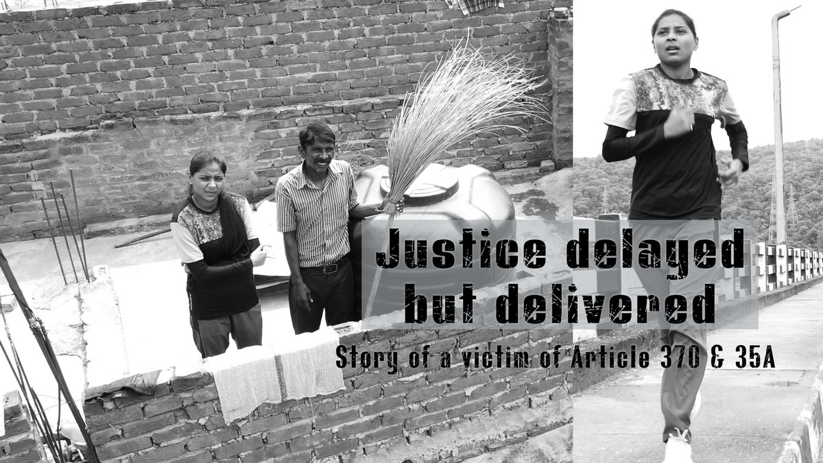 *Justice Delayed But Delivered*  A Film by @JammuKashmirNow Here is the story of Dalit Radhika Gill's struggle & hope in Jammu Kashmir. How did she, her Valmiki Community & Women get justice after Abrogation of #Art370.  #Watch Full Documentary here 👇👇👇 https://t.co/kvrfHxP5E1 https://t.co/WPkfKmw9r2
