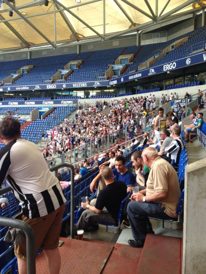 ON THIS DAY 2014: Newcastle United at Schalke for their game against Malaga #NUFC