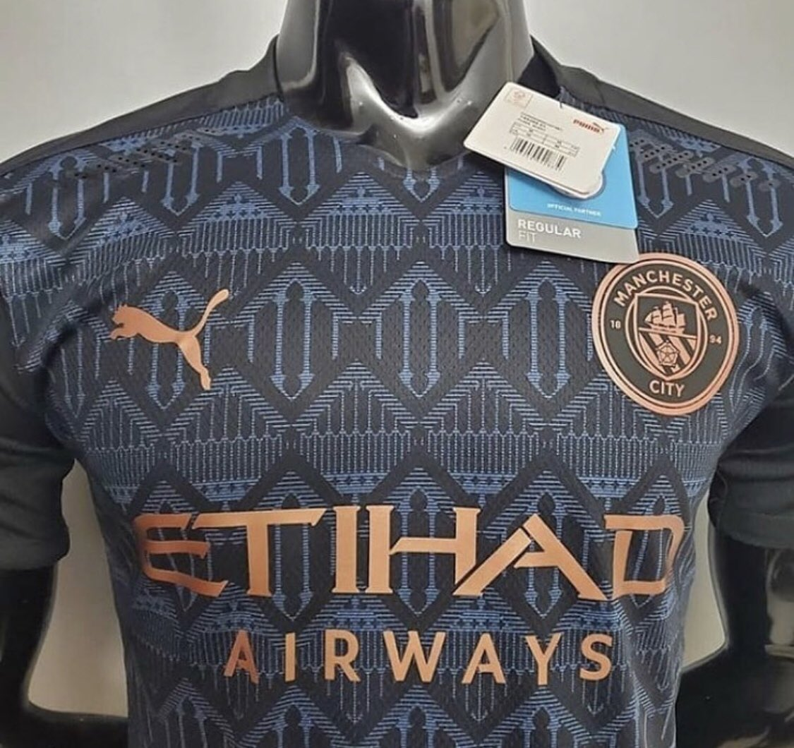 So nice to finally be able to retweet the @ManCity away kit without the fear of getting fired for leaking it.