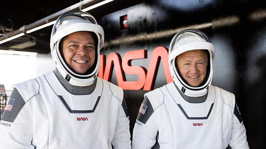 .@AstroBehnken and @Astro_Doug are go for splashdown off the coast of Pensacola, Florida, today at 2:48pm ET aboard the @SpaceX #CrewDragon. More... go.nasa.gov/2EAzH1g