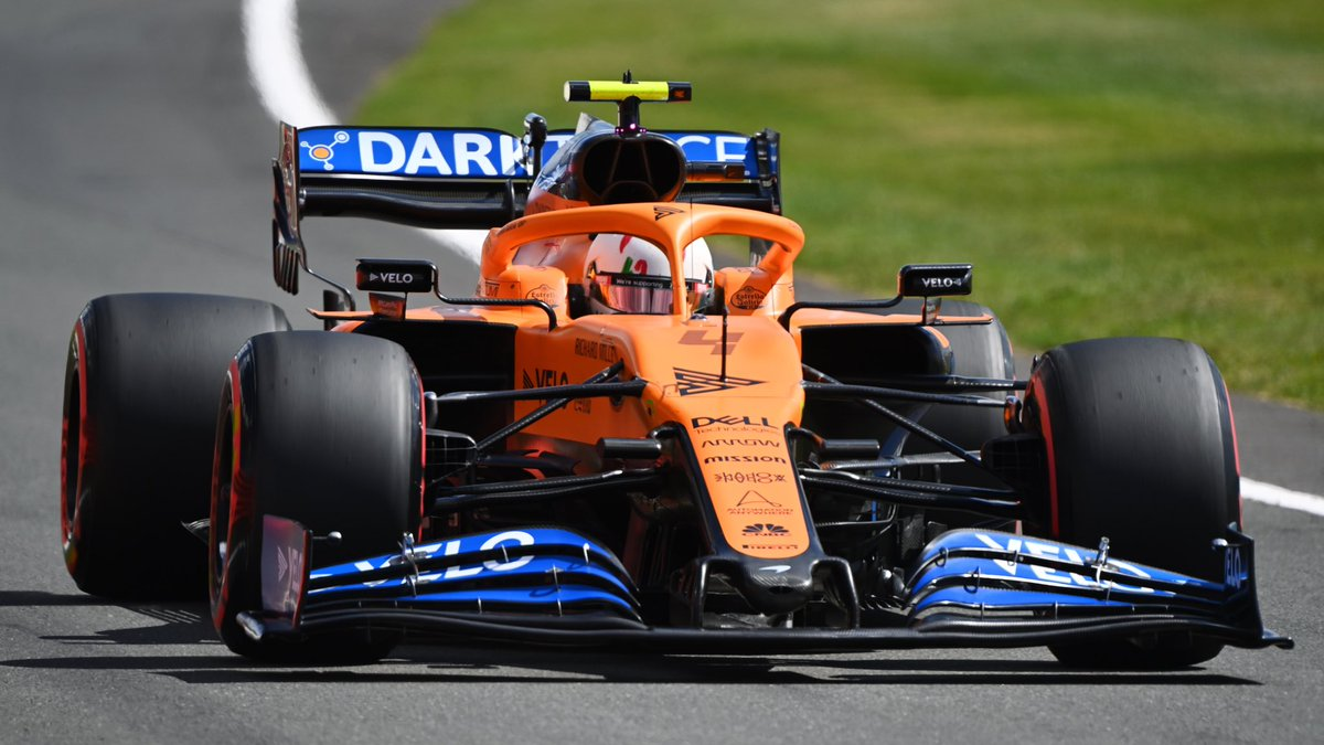 Lando finishes the #BritishGP in P5, with Carlos getting a puncture on the final lap, finishing P13.   Mixed emotions for the team. 🧡 https://t.co/dmI7PcWeRF