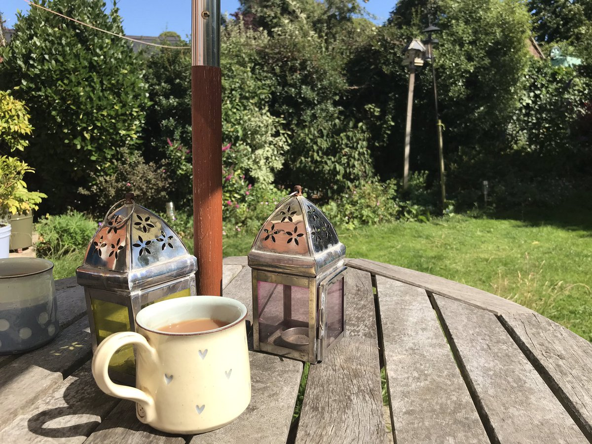 Lovely afternoon for a cuppa on the patio
