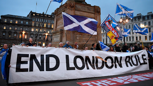 The fact is that the #political UK Union of the four countries is collapsing and there has been a growing majority urging Scottish #Independence because of both political and economic fiasco of this British government.pic.twitter.com/W2PsOGj5WM