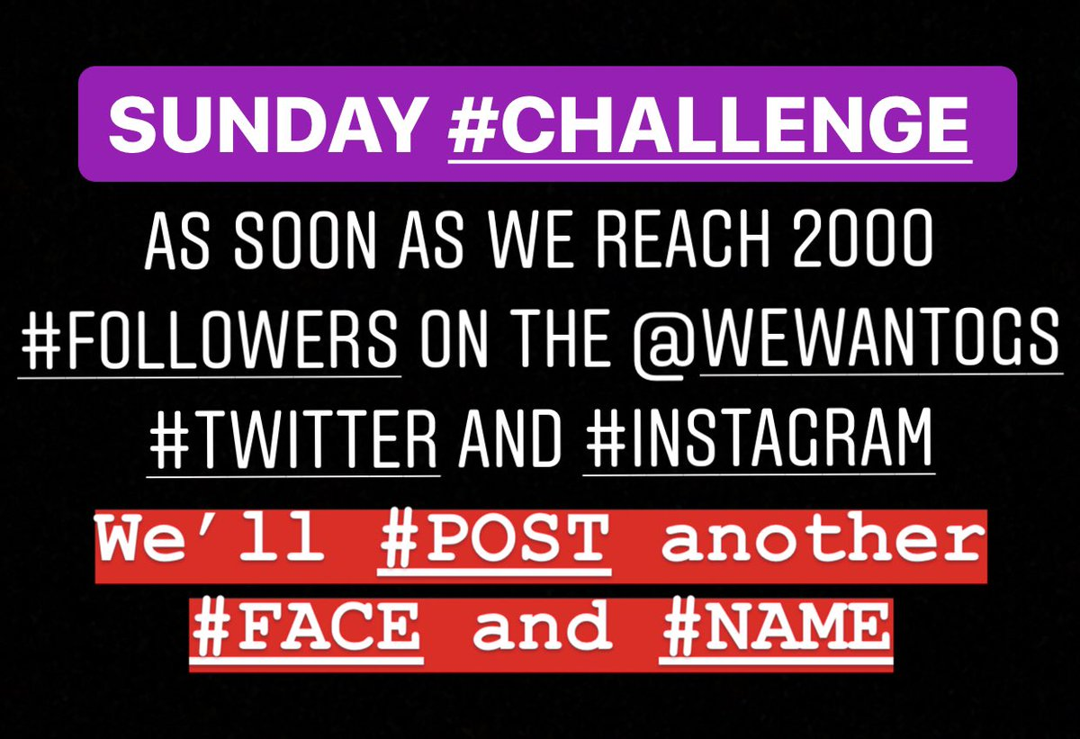 Attention #WeWantOGs WARRIORS. Judging from yesterday, you guys #LOVE seeing #NEW #CAST #ANNOUNCEMENTS😀  Here is a #SUNDAY #CHALLENGE   #LIKE and #RETWEET and I got a good one for ya😉 @BunimMurray   GO! 👇🏽👇🏽👇🏽 https://t.co/ckXcU2Vwg3