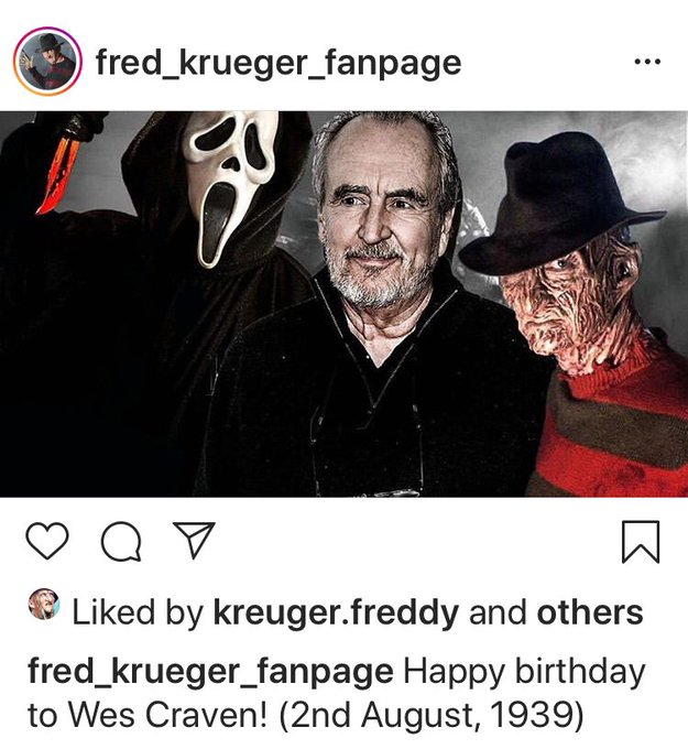 Happy Birthday to a true horror legend Wes Craven