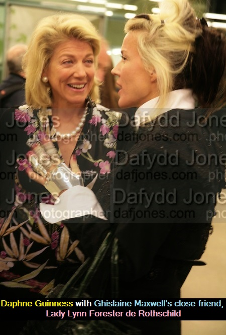 Daphne Guinness is fond of Lady Forester de Rothschild, as well as Lord Jacob Rothschild.