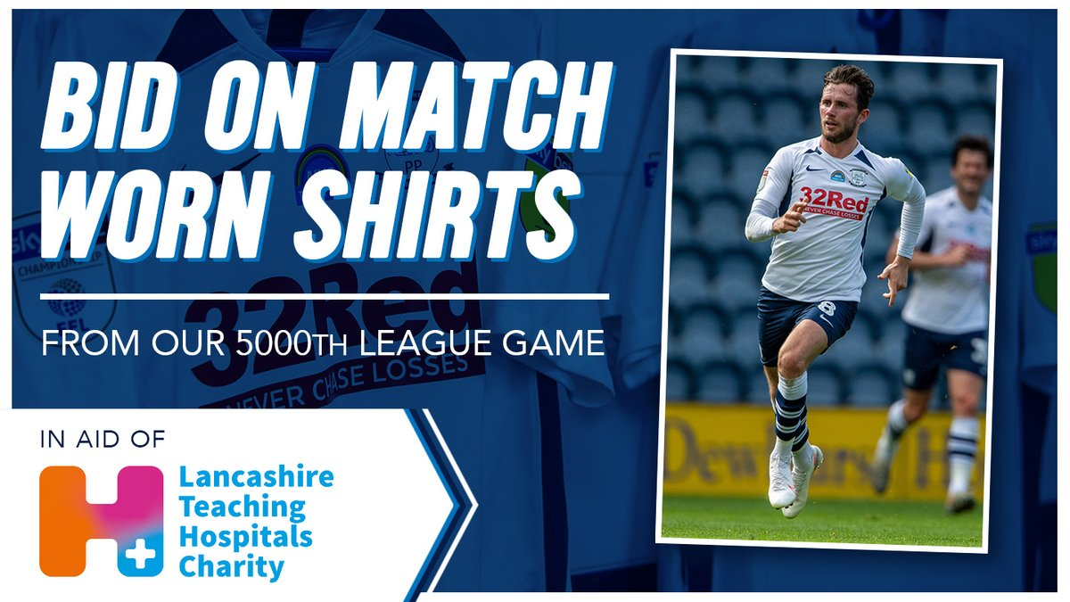 How lucky are we @LancHospCharity ?! 😍 Get involved here for your chance to win this amazing player's shirt and contribute to a fantastic cause ⬇️💙 @pnefc @PNEFansForum https://t.co/304MhpkWZA