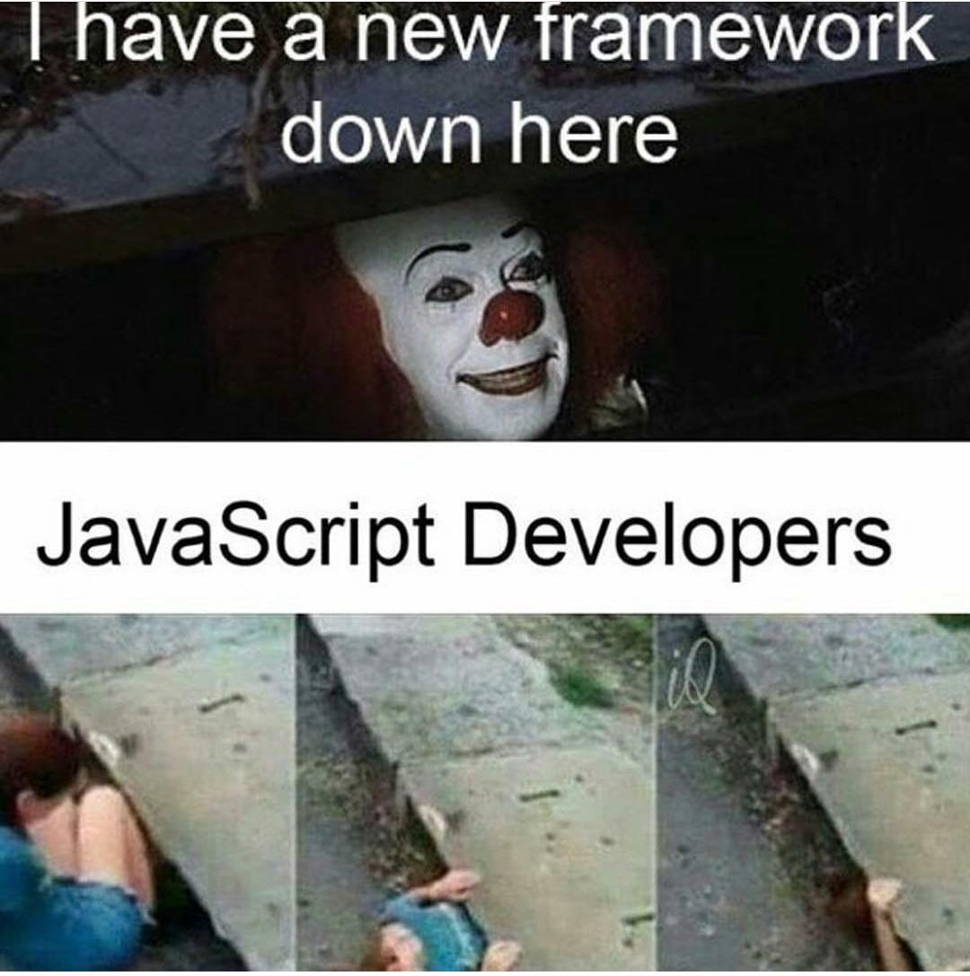 explain your relation with JS in a single meme???  #100DaysOfCode #CodeNewbie #javascript #100DaysOfCloud #NodeJS #DEVCommunitypic.twitter.com/tsszKGTk0C
