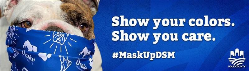 And check out our good boy @DrakeUGriff ! #MaskUpDSM