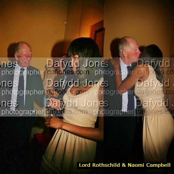 Naomi Campbell – in Ghislaine's Black Book – is bursting with love for Lord Jacob Rothschild.