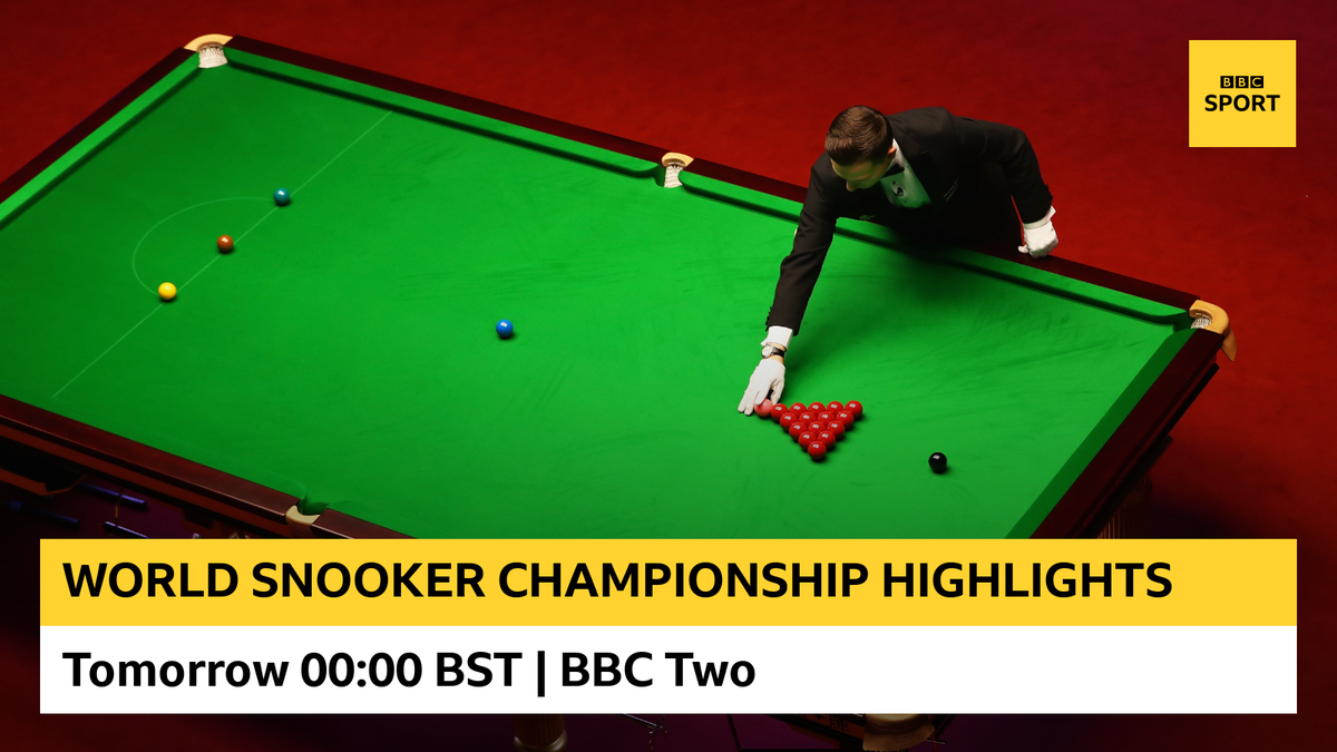 📺 Catch highlights from the World Snooker Championship on @BBCTwo and @BBCiPlayer from midnight. John Higgins, Neil Robertson and Ronnie OSullivan are all in action ⚪🔴⚫ #bbcsnooker