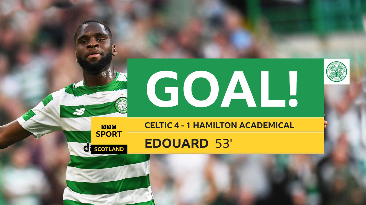 GOAL! Celtic 4-1 Hamilton Academical Its a hat-trick for Odsonne Edouard! Live updates here 👉 bbc.in/318jc4c