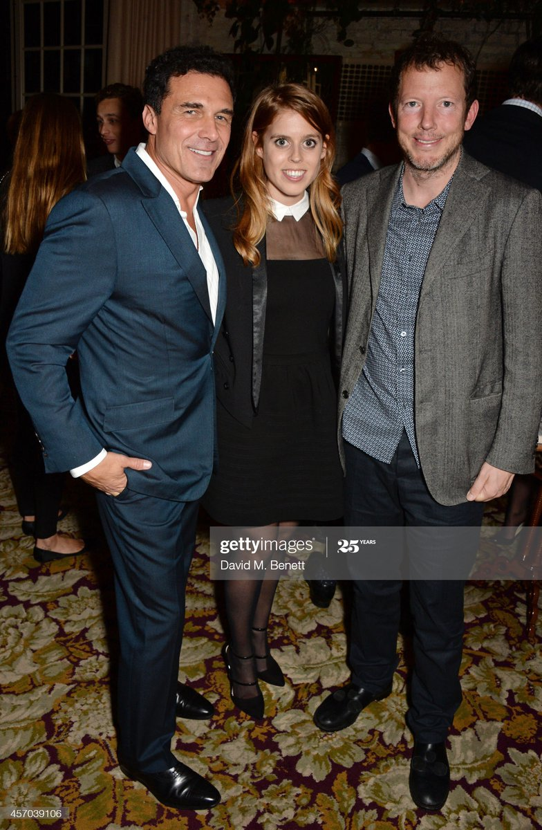 André Balazs – in Ghislaine's Black Book – enjoys a special moment with Nat Rothschild and one of Fergie's daughters.