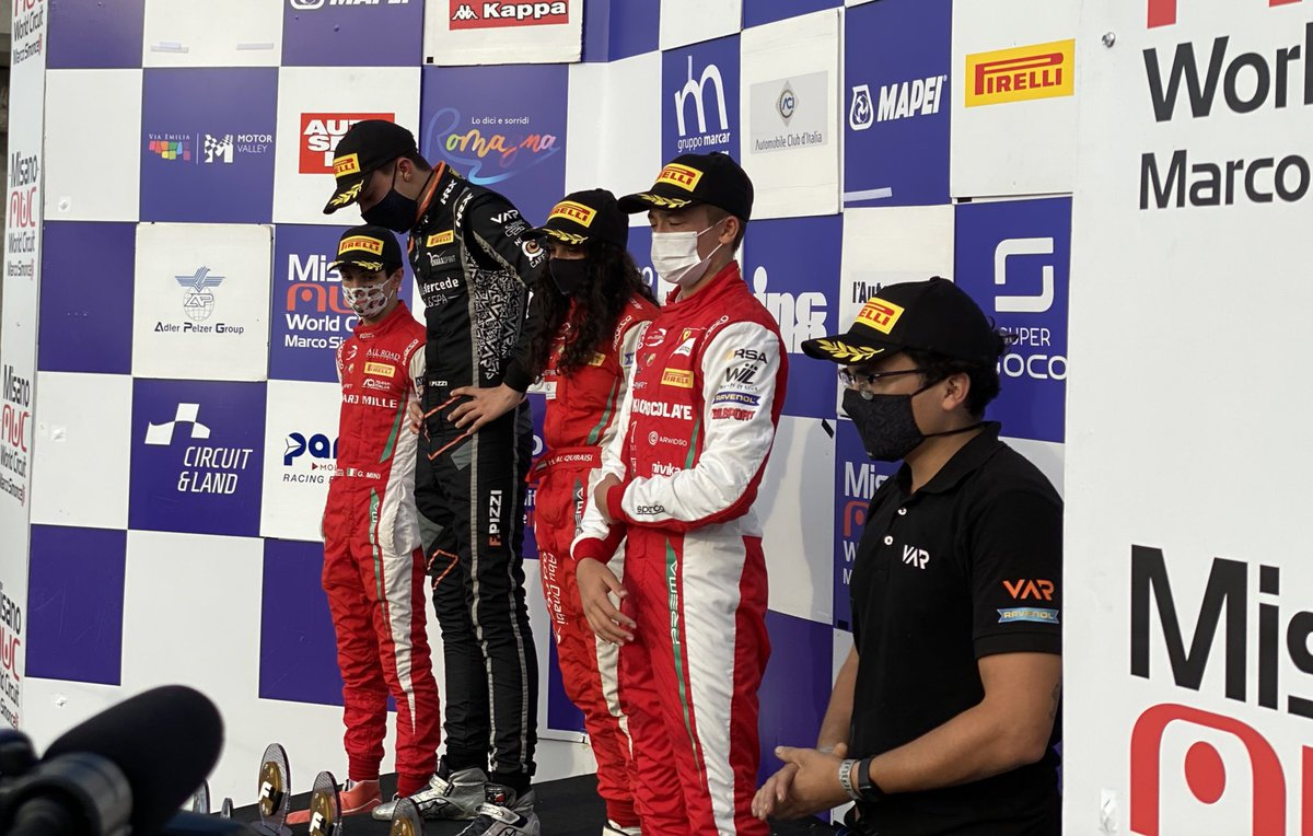 Double podium in race 3! #F4ITA #Formula4 #F4 #Misano @circuitomisano https://t.co/SpTzLav39r