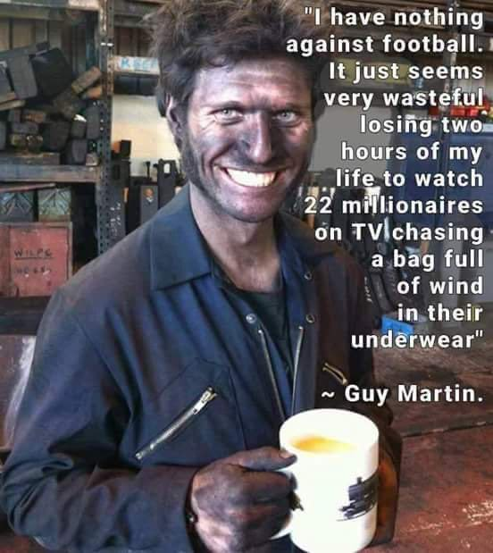 I'm continually amazed by how humble Guy Martin is. Doesn't he just seem like an absolutely top bloke? #GuyMartin #C4 https://t.co/J4CbTh84pw