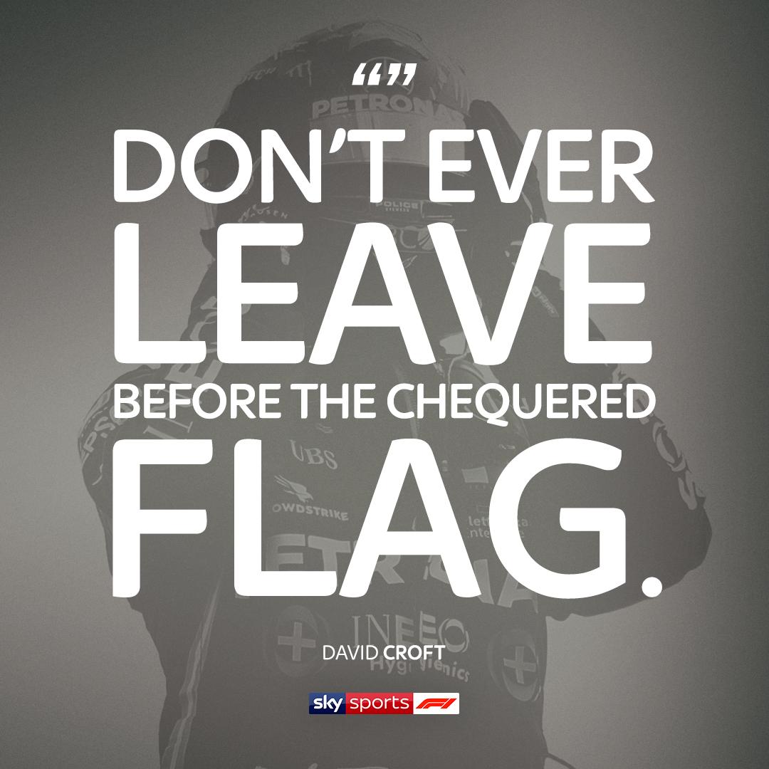 Wise words from @CroftyF1. 🗣  #SkyF1   #F1   #BritishGP 🇬🇧 https://t.co/QbBUFHTuQd