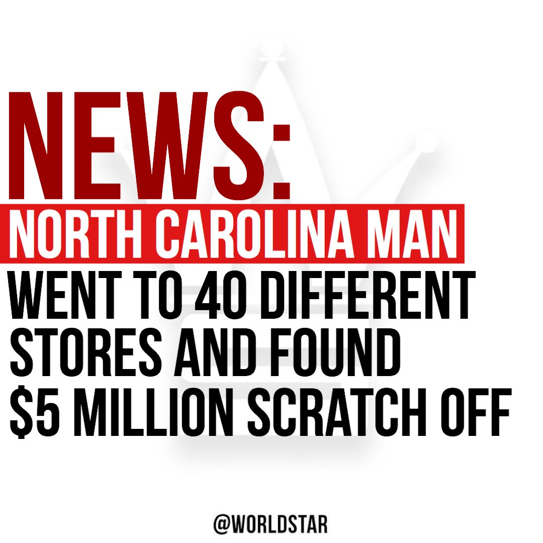 According to reports, a North Carolina man went to 40 different stores in search of one remaining scratch off with a grand prize and found it. To read the full story, please click the link. bit.ly/30iCTXU
