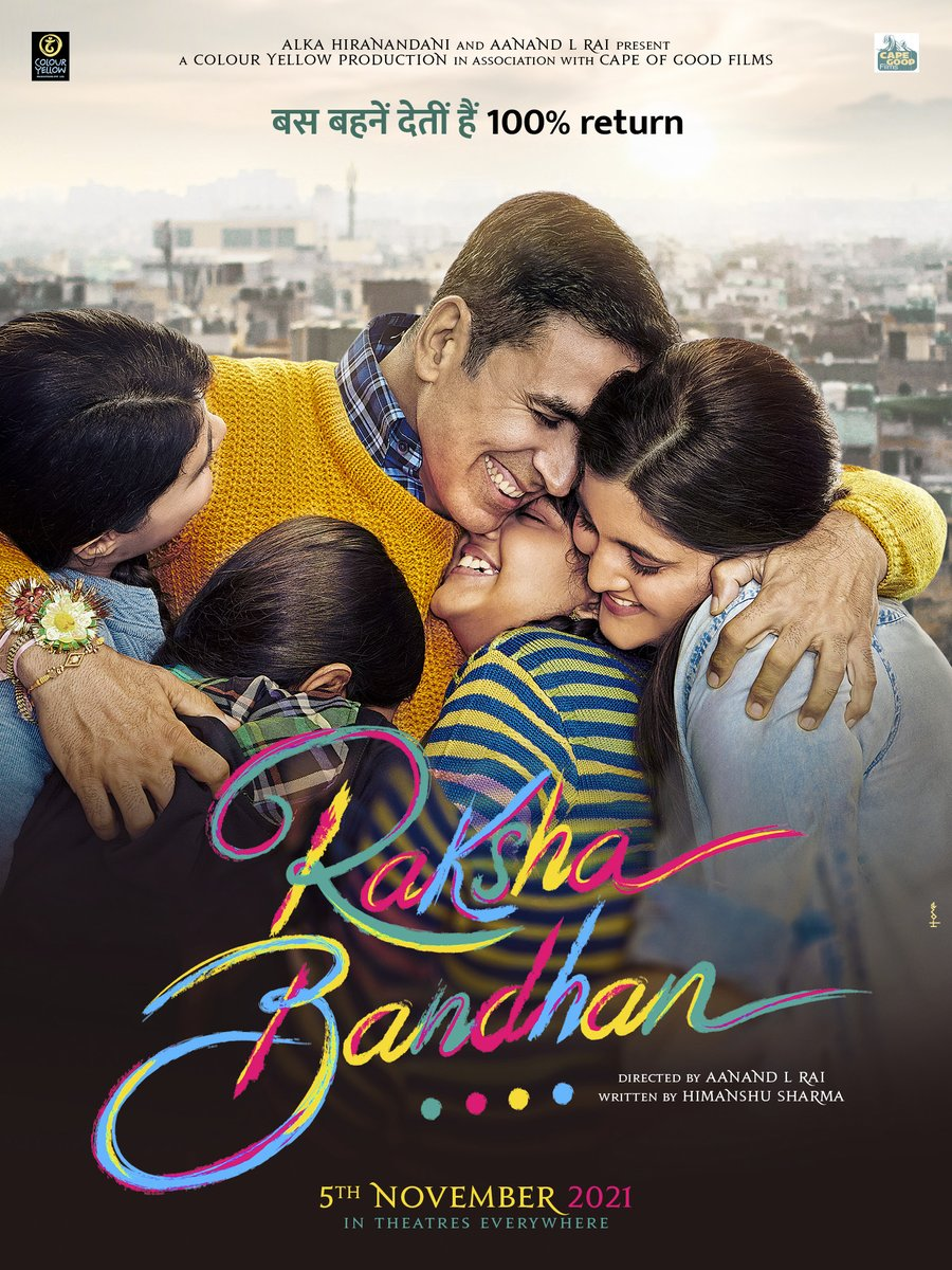 A story that touches your heart so deeply & so instantly,it's the quickest I've signed a film in my career.Dedicating this film,#RakshaBandhan to my sister,Alka & to the most special bond in the world...that of a brother and sister.Thank you @aanandlrai,this one is very special