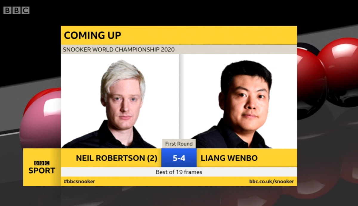 Coming up in a few minutes... Watch the World Snooker Championship LIVE on @BBCTwo and here: bbc.in/2D5mHk6