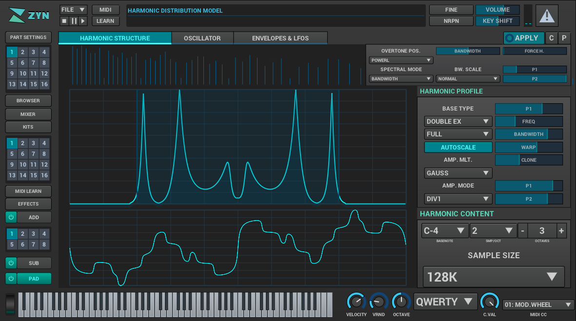 Zyn-Fusion is the most powerful free and open-source synthesizer I've seen so far.  https://zynaddsubfx.sourceforge.io/zyn-fusion.html  It has tons of options, three synthesis engines, and runs on any platform.pic.twitter.com/ZOOn0Ff99C