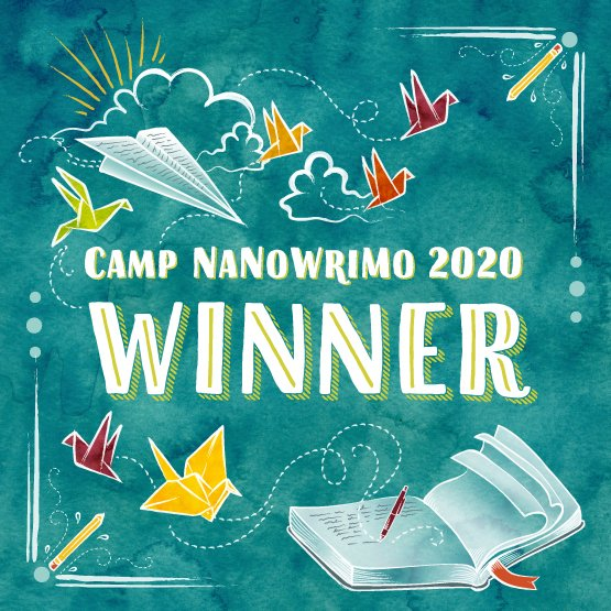 I didn't get my stats input, but I'm considering this July #CampNaNoWriMo a #WIN! I made it through 2 new full drafts of #Infinitus and wrestled the print formatting into submission. Now we're onto the final stages like cover art and proofing. #LikeABosspic.twitter.com/ZhCS56b1pk