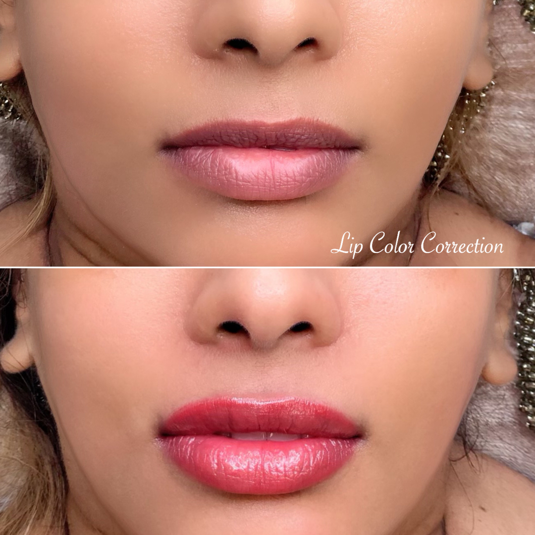 #LipColorCorrection before & after!  The healing process takes up to 10 days.  During this period the color gets a little lighter, and as the skin heals, the color comes back looking more natural and fresh!  #CorreccióndeColor de #labios antes y después!  El proceso d pic.twitter.com/himgCjDUpL