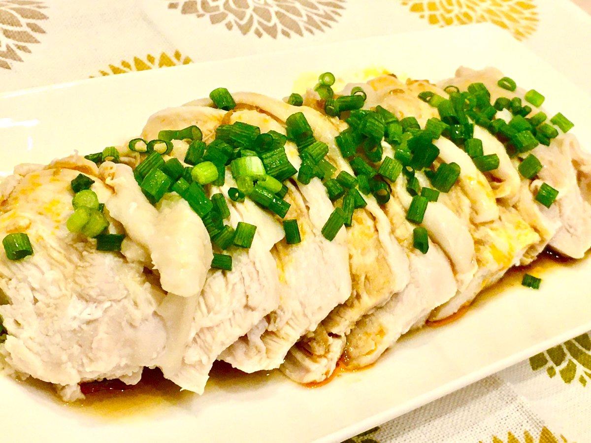 前にAkitchenで作った「よだれ鶏」の写真がイマイチだから作り直して撮り直した!(レシピもちょっと変えた)どうだろう? #Akitchen #cookpad  #おうちごはん #Twitter家庭料理部 #お腹ペコリン部 #晩御飯