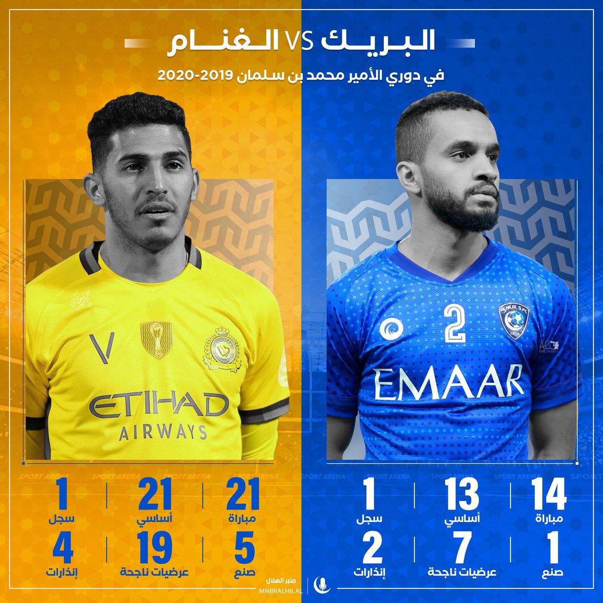 منبر الهلال Tren Twitter منبركم ي قدم لكم مقارنة بين لاعب الهلال محمد البريك V سلطان الغن ام