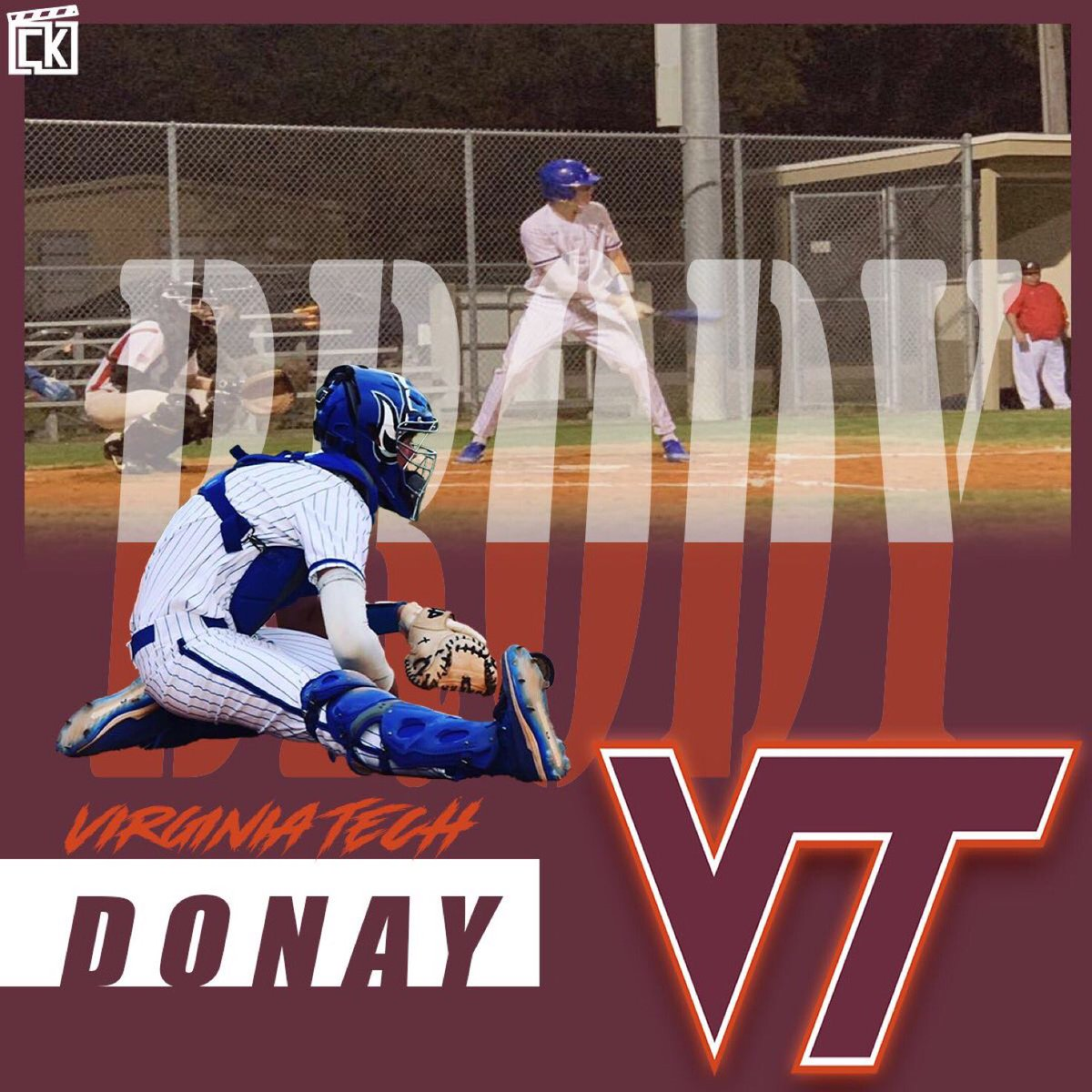 I'm extremely blessed and excited to announce that I will be continuing my athletic and academic career At Virginia Tech!! I want to thank God, and my mom and dad and all my coaches and trainers that helped me get here today! GO Hokies @OstingerAcademy @PerfectGameUSApic.twitter.com/CnovI6DOz3