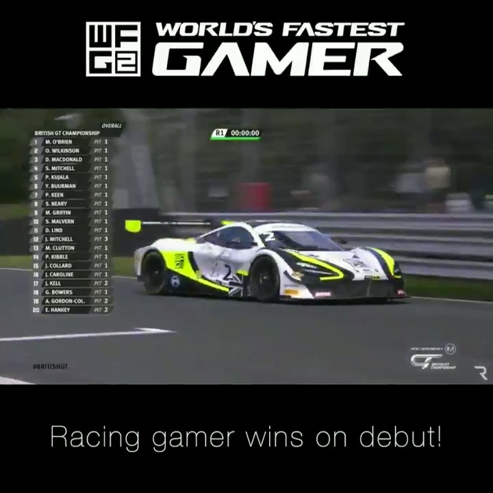 278 days ago @JaaamesBaldwin was a gamer with a dream. 📅 Last year @jpmontoya handed him the trophy for winning #WFG2. 🏆 Today he started his first professional race with @Michael_OB94 and won for @JensonButton Team @Rocket_Msport RJN in @BritishGT!  #GamerToRacer https://t.co/TNCb6YsrVg