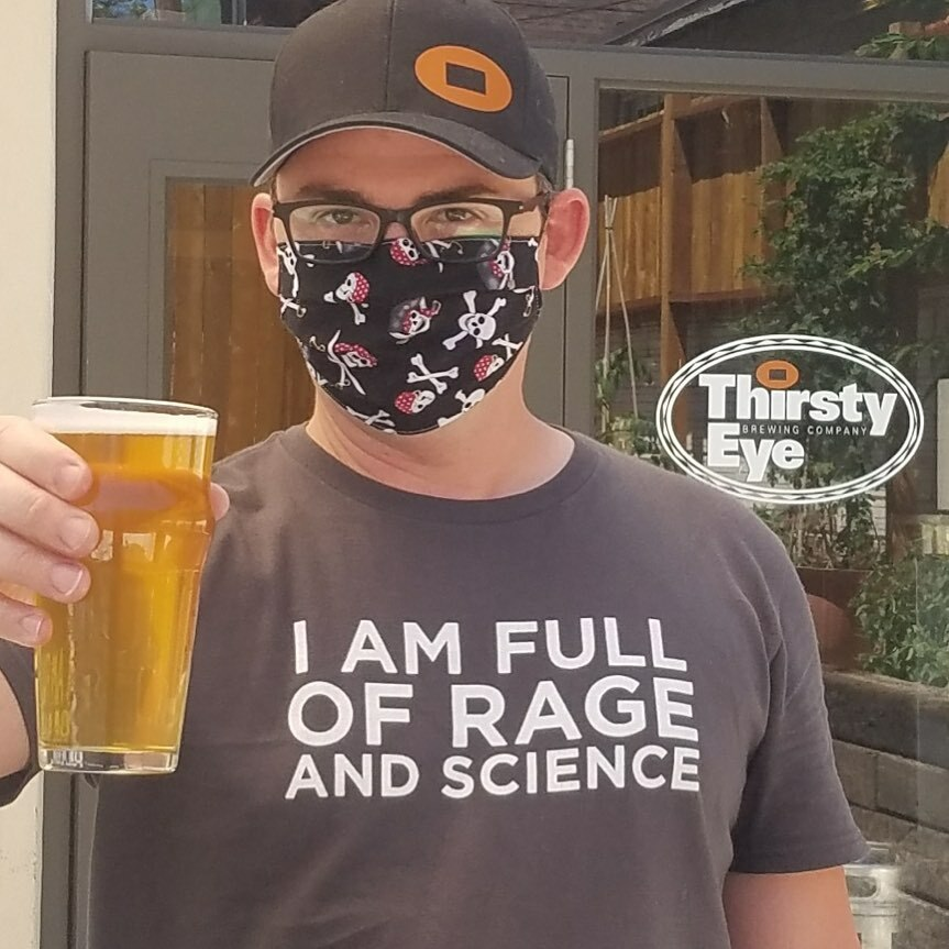 The shirt says it all. New beer coming Wednesday. But what is it!? Follow @thirstyeyebrew for details. #nmbeer #nmcraftbeer #abqbeer https://t.co/nCaZWaUyxh